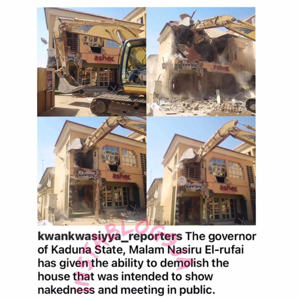 Kaduna State Government reportedly orders the demolition of the building which was the intended venue of an aborted Kaduna s*x party [Swipe]