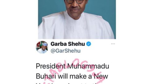 President Buhari to address the nation by 7am on Friday, January 1, 2021
