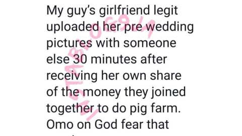 Lady uploads her groom-to-be picture after receiving her own share of a business deal with her boyfriend
