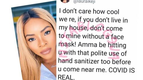 """""""Don't come to my house without a face mask,"""" Businesswoman Laura Ikeji warns Nigerians"""
