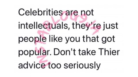 Why you shouldn't take celebrities advice seriously — Dr. Talabi