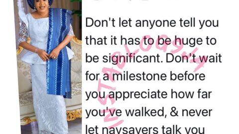 Don't let anyone tell you that it has to be huge to be significant — Actress Toyin Abraham