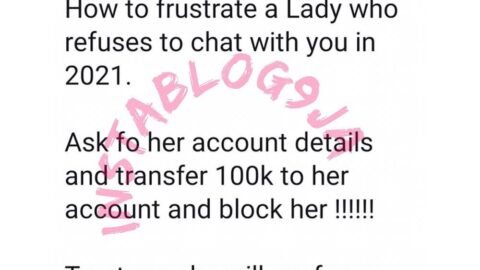 How to frustrate a lady who refuses to chat with you — Journalist Adenekan