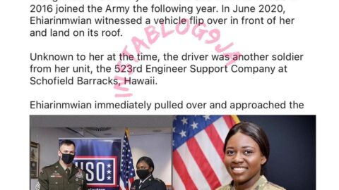 Nigerian lady honored as US Soldier of the Year 2020 [Swipe]