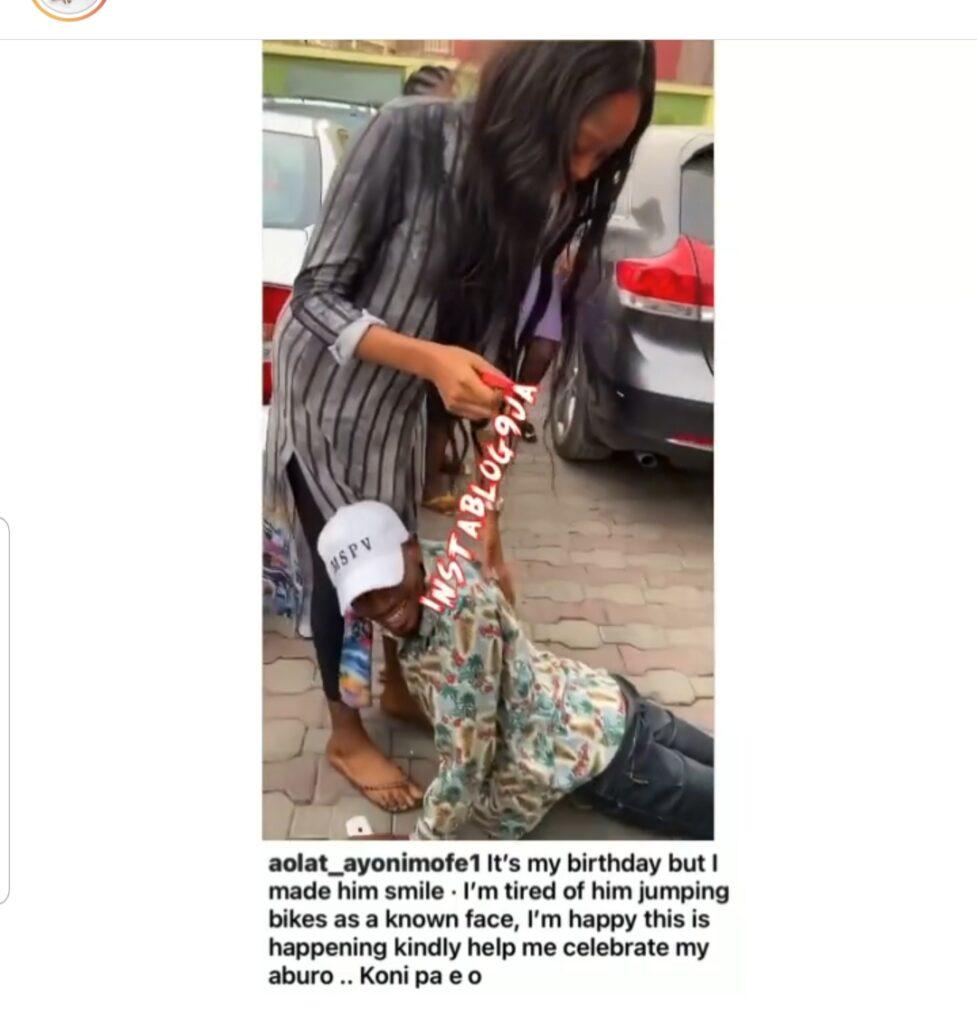 Actress Aolat Ayonimife gifts her younger brother (actor Olohuniyo) a car