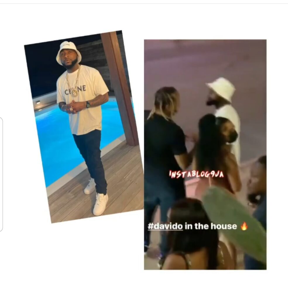 Singer Davido steps out with a mystery woman as he vacations with his crew in St. Maarten. 📹: @deejblaze1