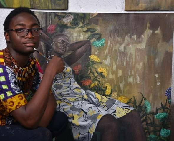 Fantasies to Life: 18Years old Nature Artist Painting Africa to GreatnessBy Victor Arjiromanus 18years old Ghanaian aesthetics creative