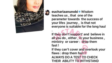 If they don't support you, drop them fast — Actress Eucharia Anunobi