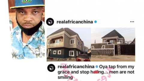 Musician AfricanChina flags off his 'grace tapping' exercise, as he completes his massive building project in Lagos
