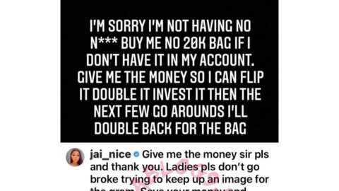 Ladies, don't go broke trying to keep up an image for IG — American designer Jai