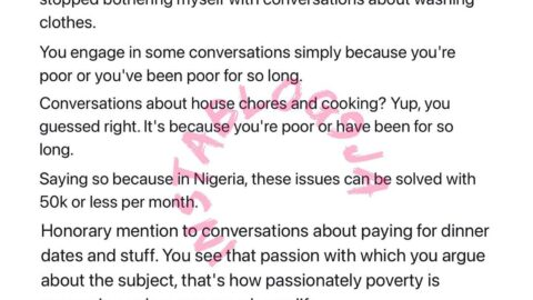 You engage in some conversations simply because you are poor — Writer Jaja