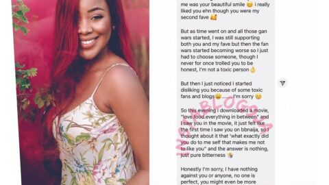 """""""I want to free myself from this bitterness,"""" Lady says as she apologizes to actress Nlewedim"""