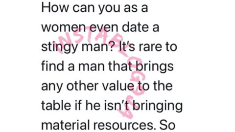It's rare to find a man that brings any other value to the table if he isn't bringing material resources — Media Personality Omojuwa