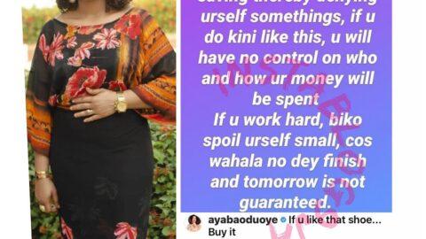 Actress turned finance guru, Mosunmola Filani, advises Nigerians