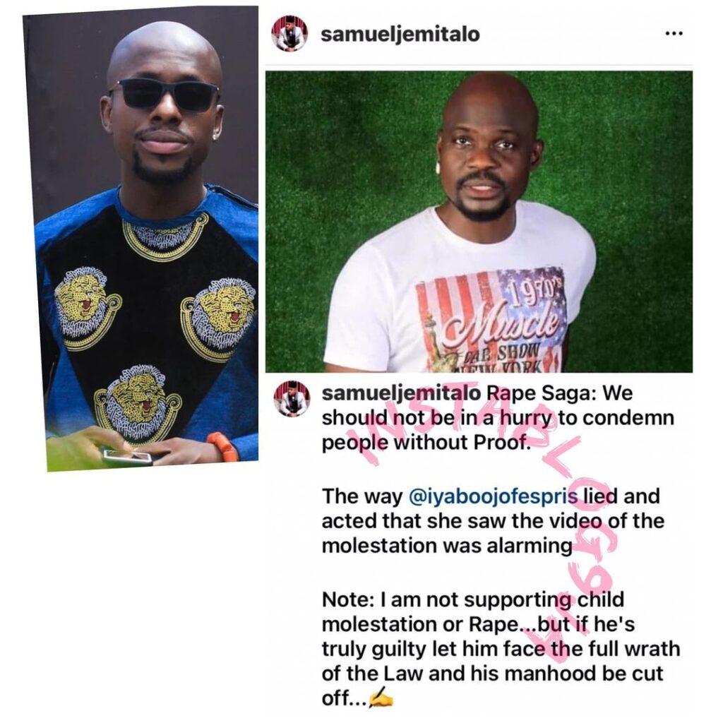 Baba Ijesha's R*pe Saga: Iyabo Ojo lied about seeing the video of the molestation — Actor Samuel Jemitalo. [Swipe]