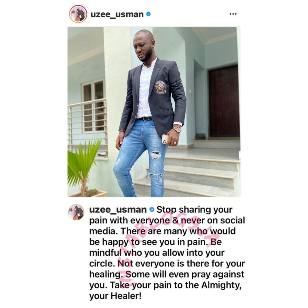 Never share your pain with people � Actor Uzee Usm... Image