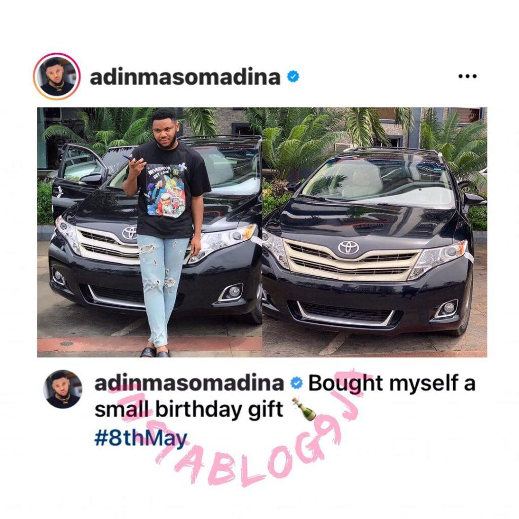 Actor Somadina Adinma gets himself an early birthd... Image