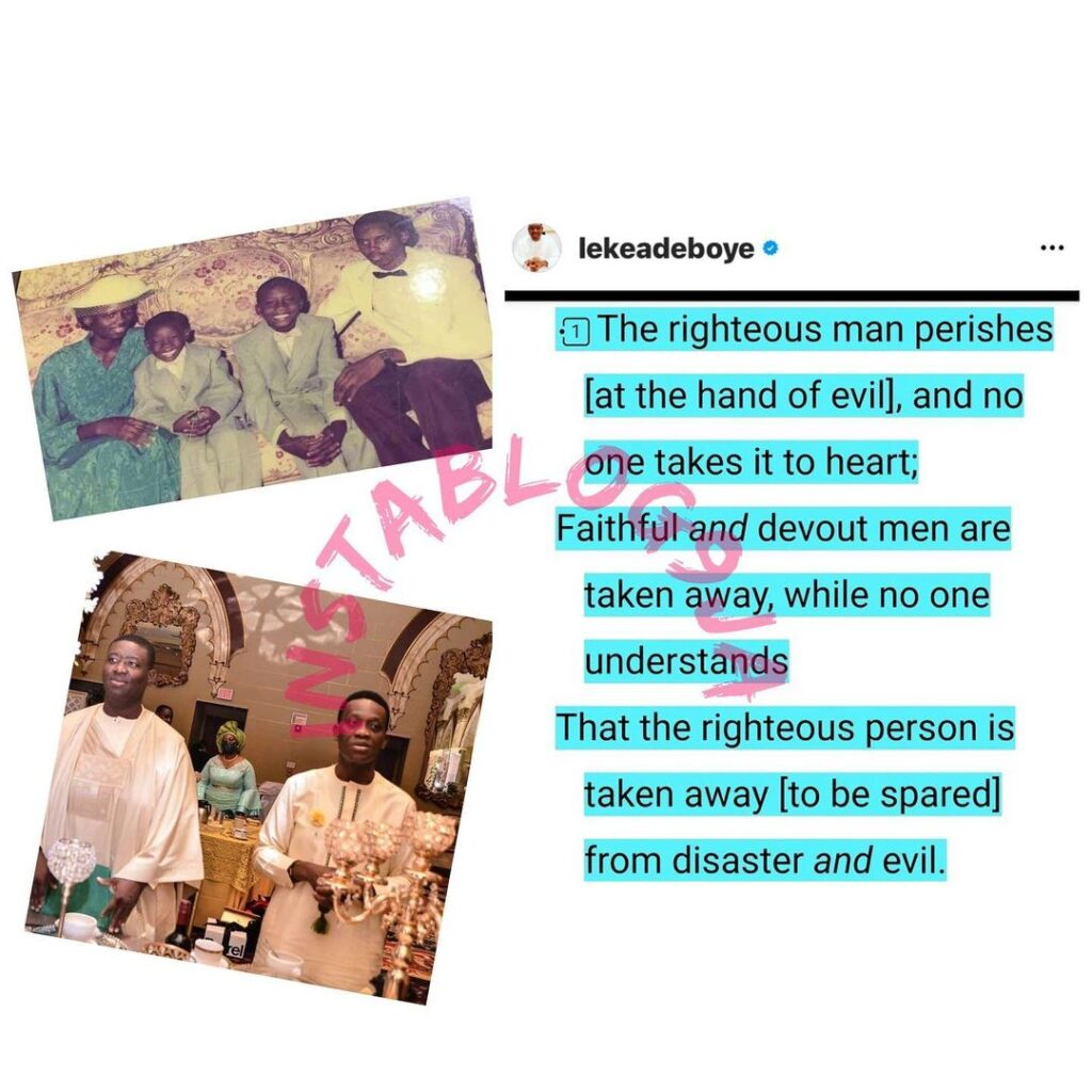 Pastor Adeboye�s son, Leke, reacts to the demise o... Image