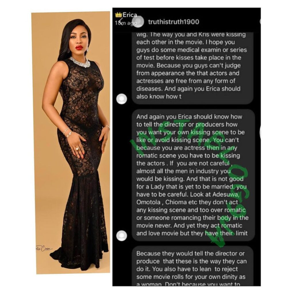 Fan scolds BBN�s Erica for kissing in a movie Image