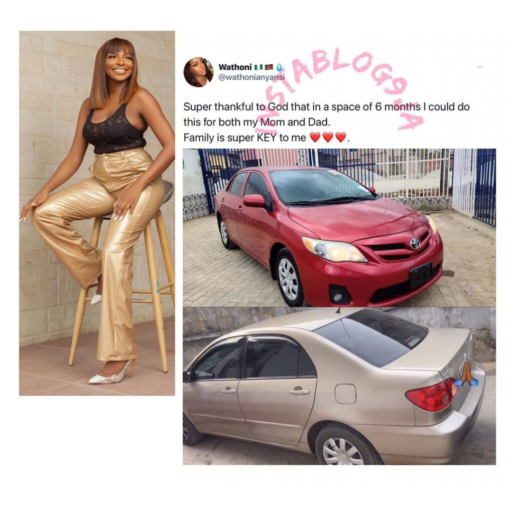 BBN�s Wathoni gifts her parents two wonders on whe... Image