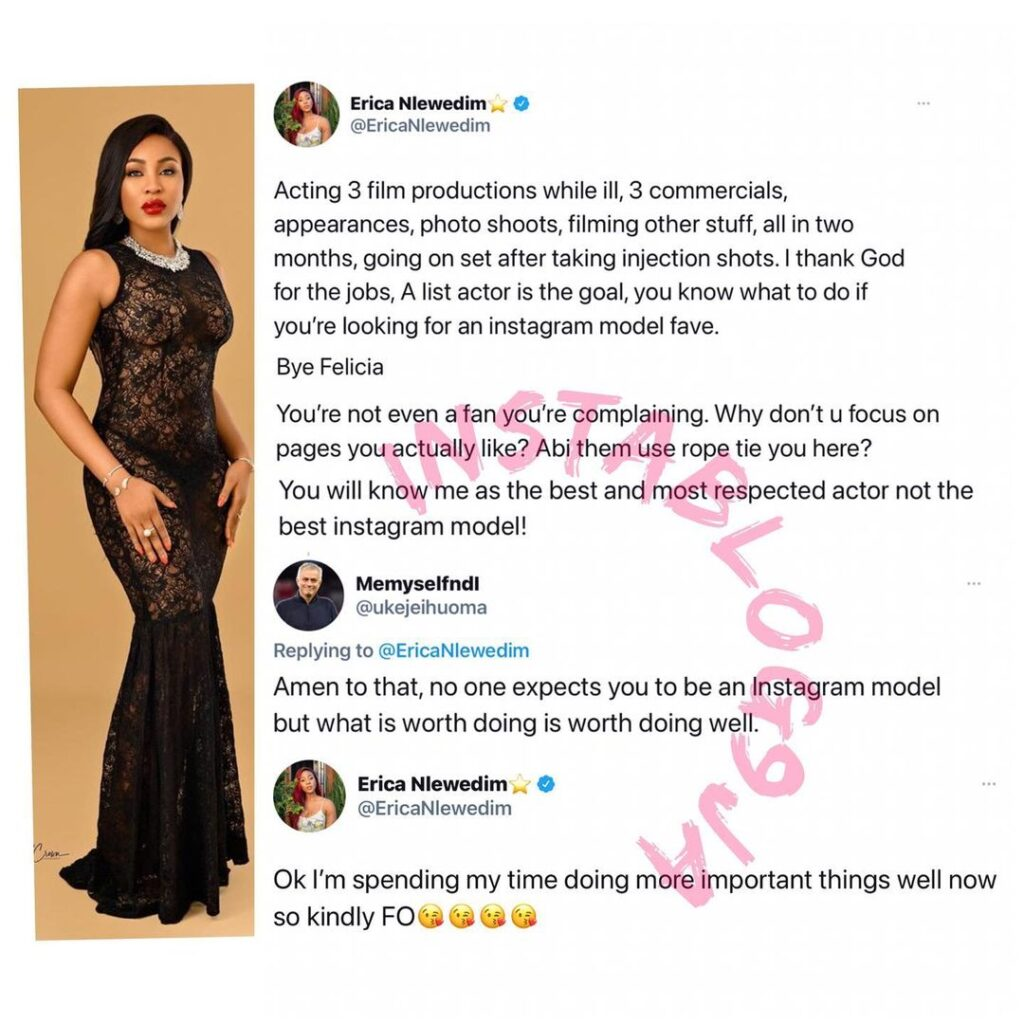 BBN�s Erica blows hot after she was criticized ove... Image
