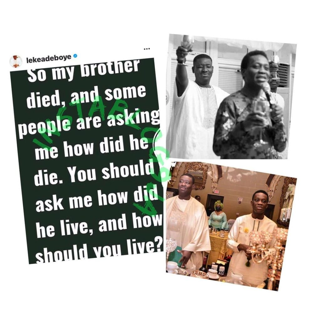 Pastor Adeboye�s son, Leke, addresses those asking... Image