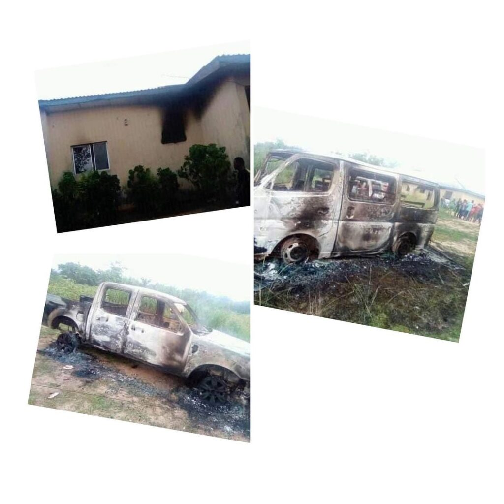 Suspected IPOB members launch attack at a police s... Image