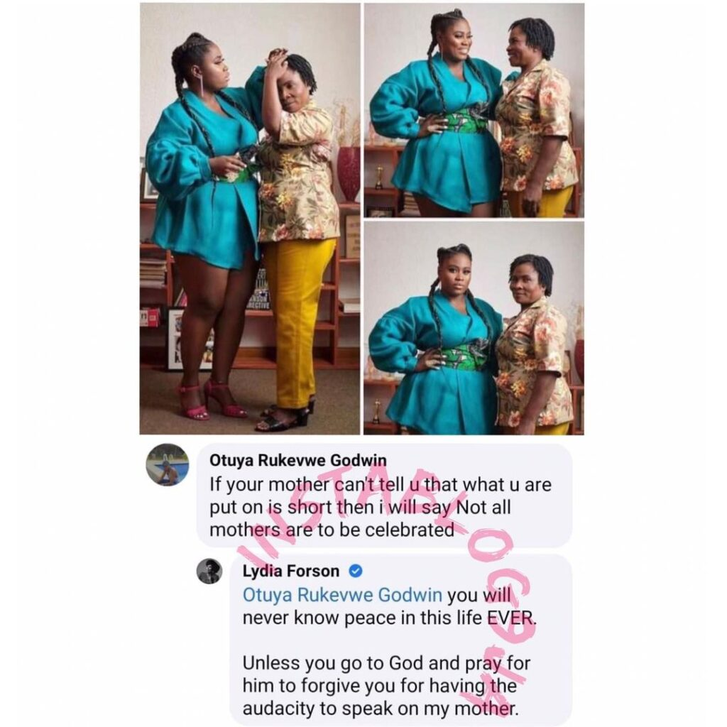 Mother�s Day: Actress Lydia Forson replies man who... Image