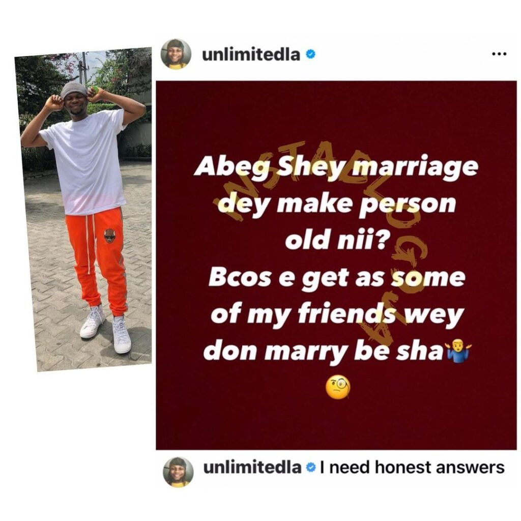 Puzzled video director, Unlimited LA, poses a question to married folks