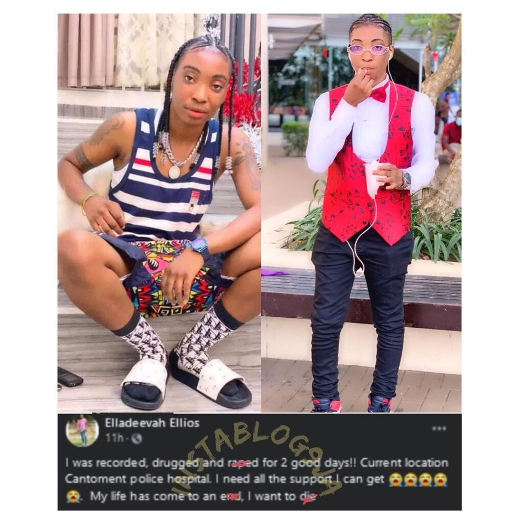 Nigerian DJ, Elladeevah, drugged and r*ped by her male bestie and three other menin Ghana over her sexuality .