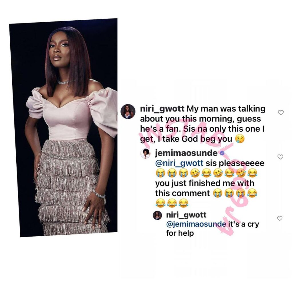 Lady begs actress Jemima Osunde not to snatch her man