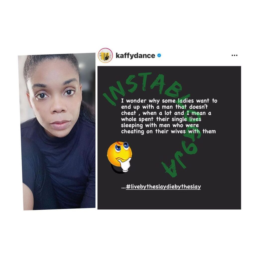 Dancer Kaffy aggressively pricks the conscience of ladies