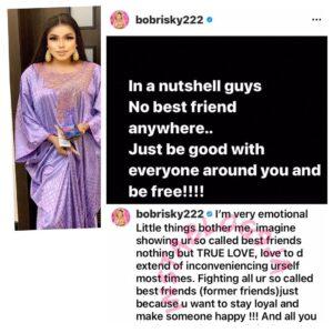 Crossdresser Bobrisky reveals why she broke up with her best friend [Swipe]