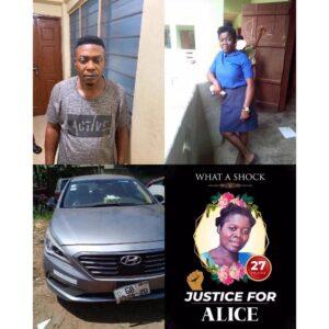 Nigerian driver knocks down a 27-yr-old teacher, then dumps her in a bush where she died in Ghana .