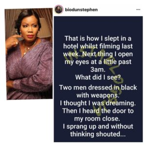 Filmmaker Biodun Stephen accuses EFCC of breaking into her hotel room in the middle of the night [Swipe]