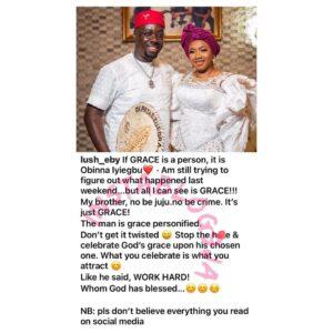 Fr*ud/R*tual Claims: Businessman Obi Cubana's wife breaks silence