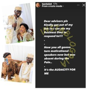 Actress Tonto Dikeh addresses those advising her about her new relationship