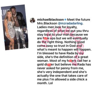 Stay loyal to your man regardless of what he puts you through — Ghanaian-American actor, Michael Blackson, tells ladies, as he gets engaged