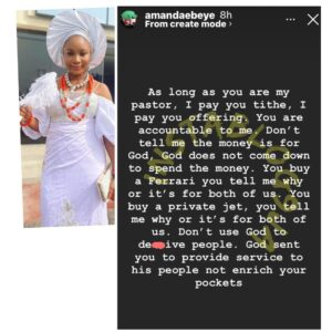 Don't use God to d*ceive people — Actress Amanda Ebeye tells preachers
