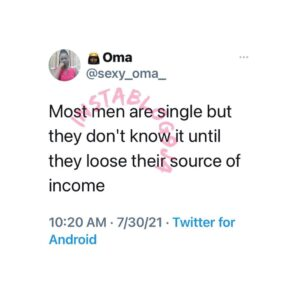 Men don't know they're single until…. — Businesswoman
