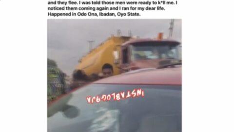 Returnee narrates his near-d*ath experience in Ibadan traffic