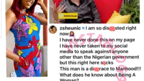 Actress Seun Osigbesan reacts as crossdresser Bobrisky reveals why he dumped the male gender [Swipe]
