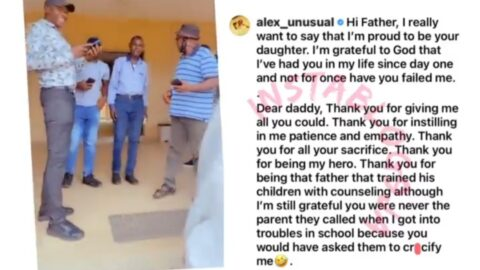 The moment Reality TV Star, Alex Unusual, surprised her dad on his birthday [Swipe]