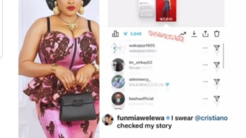 Actress Funmi Awelewa declares her own dem*se after legendary footballer, Cristiano Ronaldo, allegedly viewed her insta-story