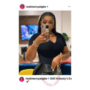 """""""I'm nobody's ex,"""" actress Mercy Aigbe insists as her ex-husband gives thanks for finding happiness again. [Swipe]"""