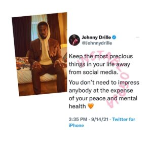 Why you don't need to impress anyone on social media — Singer, Johnny Drille