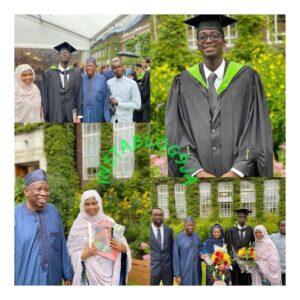 Kano State Governor,  Umar Ganduje's son graduates from UK University