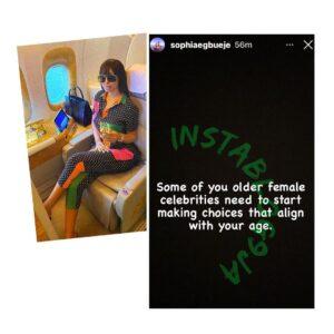 Lagos Socialite, Sophie Egbueje, advises female celebrities