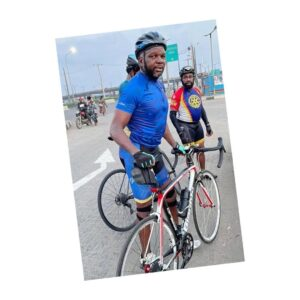 Nigerian Cyclist dies days after being st*bbed by armed robbers in Lagos .