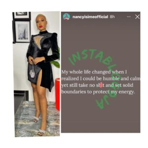 Media personalty, Nancy Isime, reveals when her whole existence changed